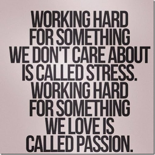 passion vs stress