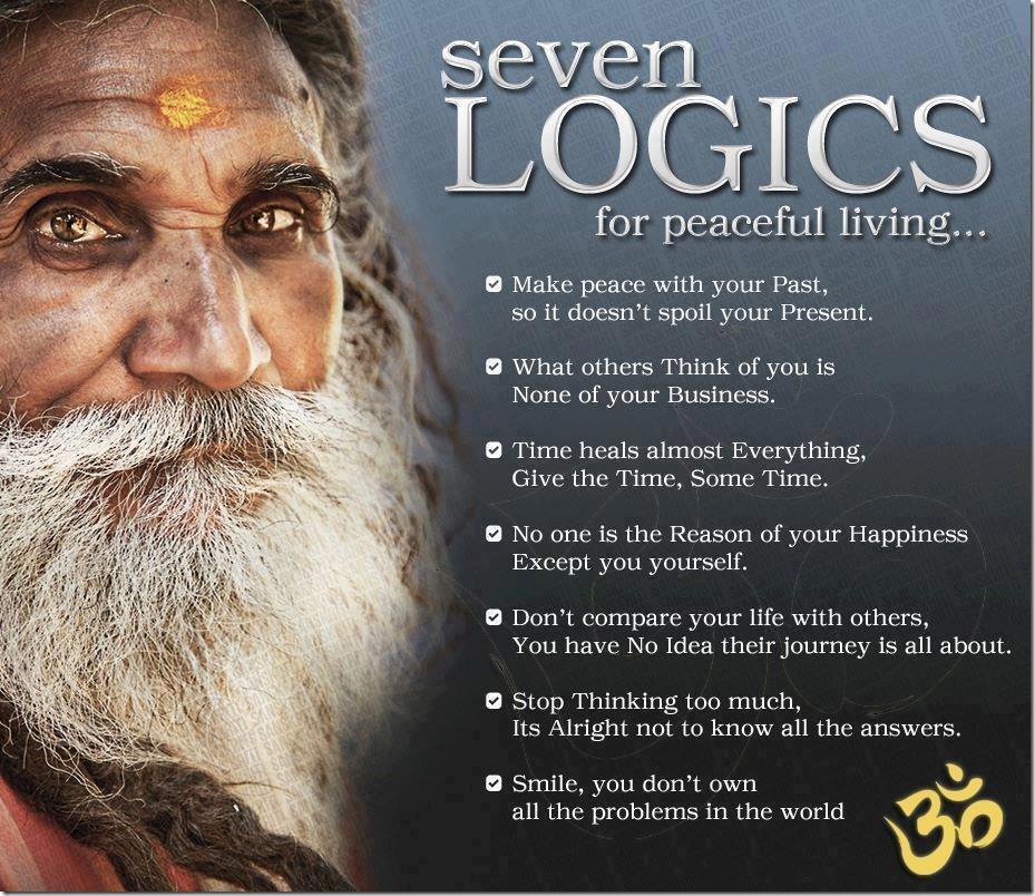 7 commandments for peaceful living